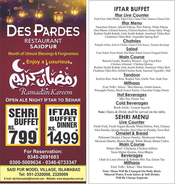 Iftar Deals In Islamabad You Should Grab This Ramzan Food Geo Tv