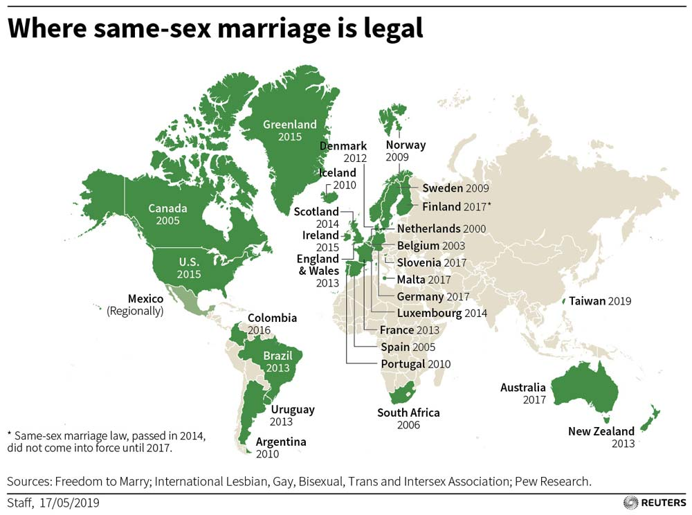 Taiwan legalises same-sex marriage in first for Asia   World - Geo tv