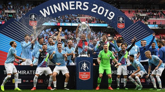 Manchester City crush Watford 6-0 to complete treble in style