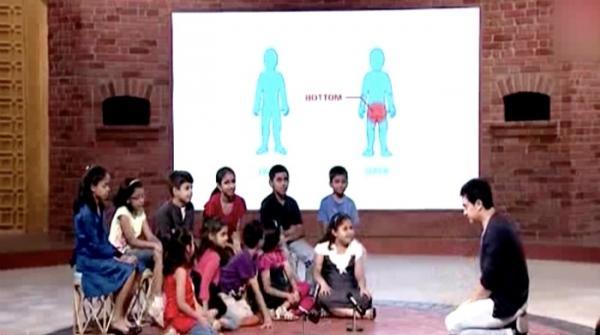 Superstar Aamir Khan gives sexual harassment awareness to children