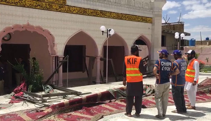 Three killed in blast at Quetta mosque before Friday prayers