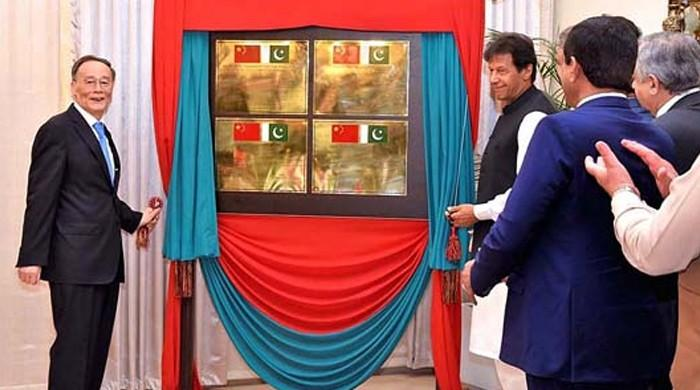 PM Khan, Chinese VP launch four mega CPEC projects