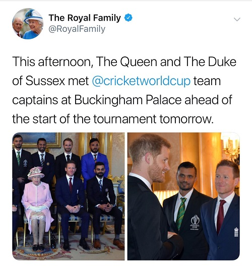 World Cup captains meet the Queen at Buckingham Palace
