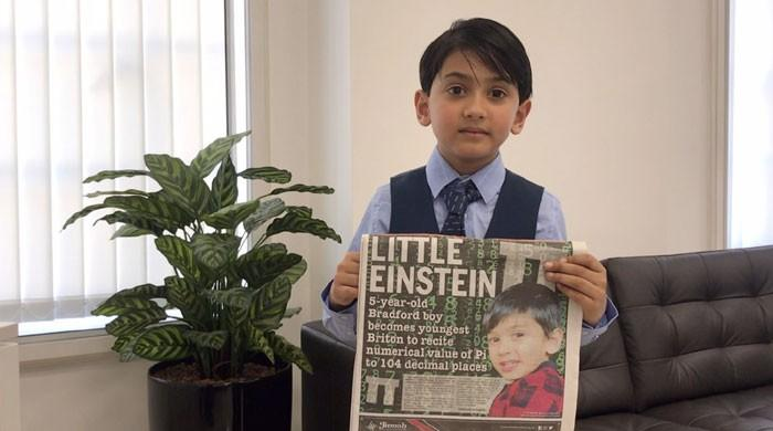 British-Pakistani boy sets new Pi challenge record in UK