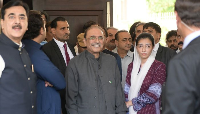 Pakistan Peoples Party (PPP) co-chairman Asif Ali Zardari prior to his arrest in Islamabad by the National Accountability Bureau (NAB).