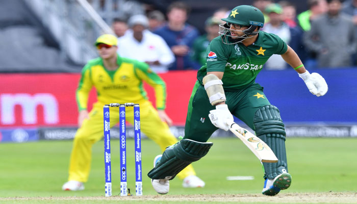 Pakistan´s Imam-ul-Haq watches the ball after playing a shot during the 2019 Cricket World Cup. Photo: AFP