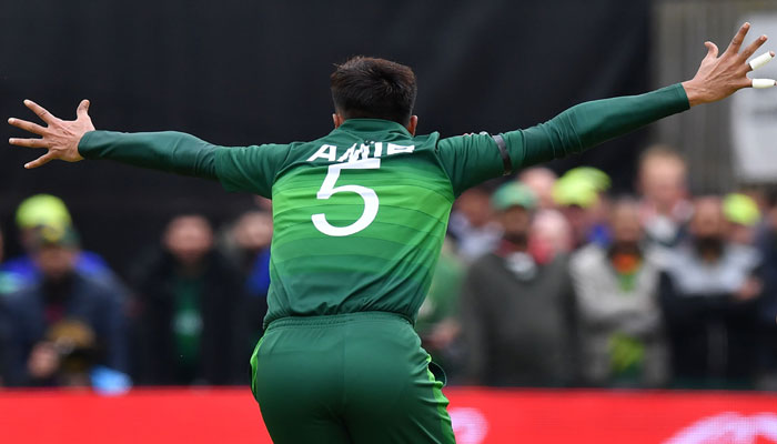 Pakistan´s Mohammad Amir makes an appeal for a leg before wicket (LBW) decision. Photo: AFP