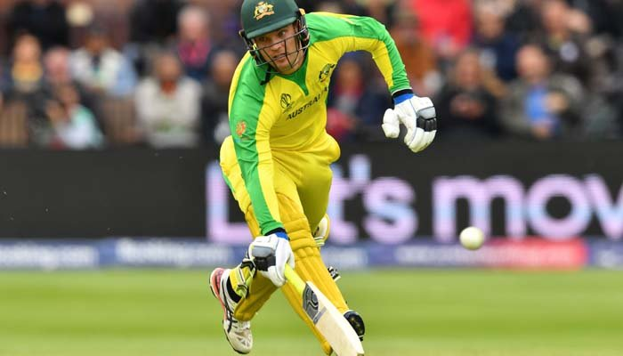 Australia´s Alex Carey makes his ground during the 2019 Cricket World Cup. Photo: AFP