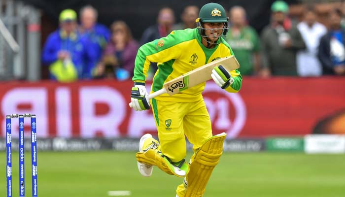 Australia´s Usman Khawaja runs between the wickets during the 2019 Cricket World Cup. Photo: AFP