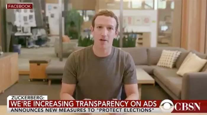 Instagram not to remove deepfake video of Facebook CEO Zuckerberg