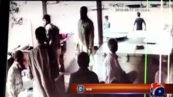 CCTV video of attackers fleeing after killing two policemen in Karachi