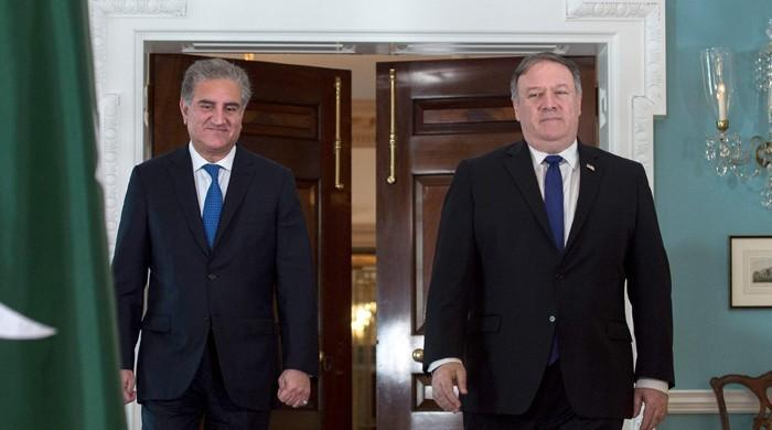 FM Qureshi, US secy Pompeo discuss bilateral relations, regional security