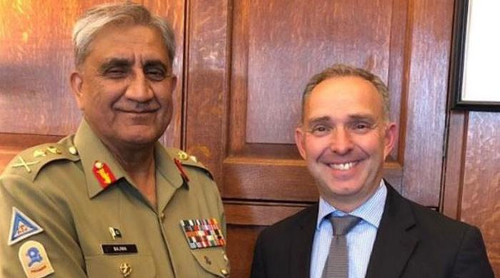 COAS discusses Afghan peace process with UK NSA Mark Sedwill