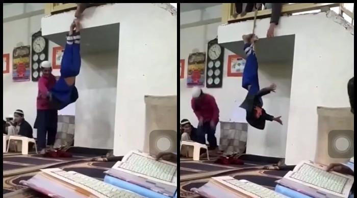 Rawalpindi 'qari' arrested after video of assaulting student goes viral