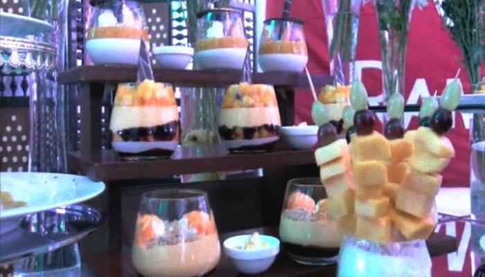 Various mango desserts presented at the Mango Festival in Multan, Pakistan, July 8, 2019. Geo.tv/via Author
