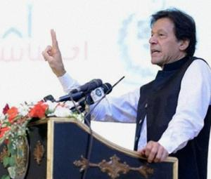 PM Imran says promised Allah 'I won't let go of those who robbed country'