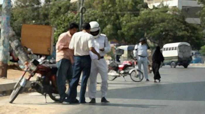 Karachi traffic police collect record Rs55m in challans during month-long helmet campaign