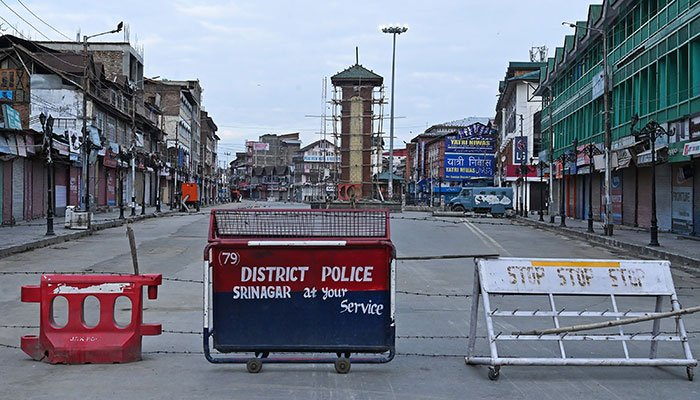 Clampdown in IoK tightened ahead of India's independence day