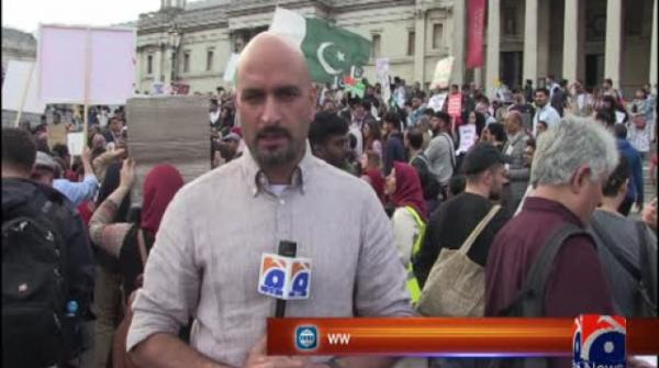Protest in UK against India's brutalities, revocation of Article 370 in Kashmir