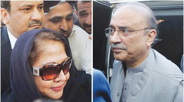 Fake accounts case: Court declines Zardari, Faryal request for A-class jail facilities