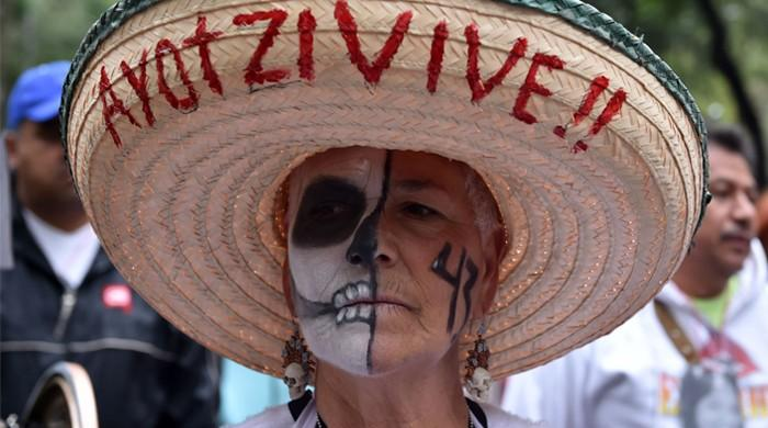 Mexican 'professional protester' has outfit for every cause