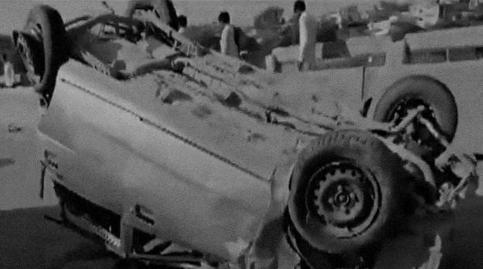 Two dead, six wounded as truck tramples five cars, flips over in Islamabad
