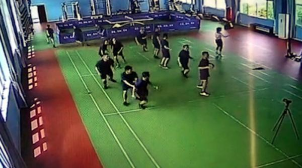 Firemen Rush To Fire Leaving Aerobics Teach Moving Solo