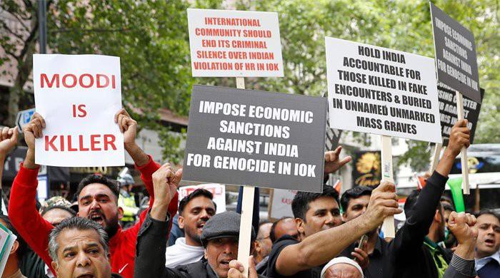Protests continue globally against Indian atrocities in occupied Kashmir
