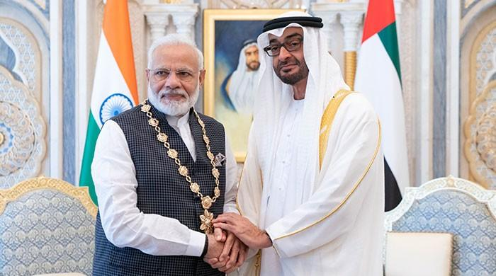 UAE gives Modi its top civilian award amid Kashmir crisis