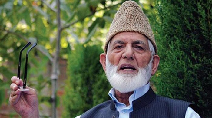 No alternative but to continue fight for freedom, Gilani's message to Kashmiri people