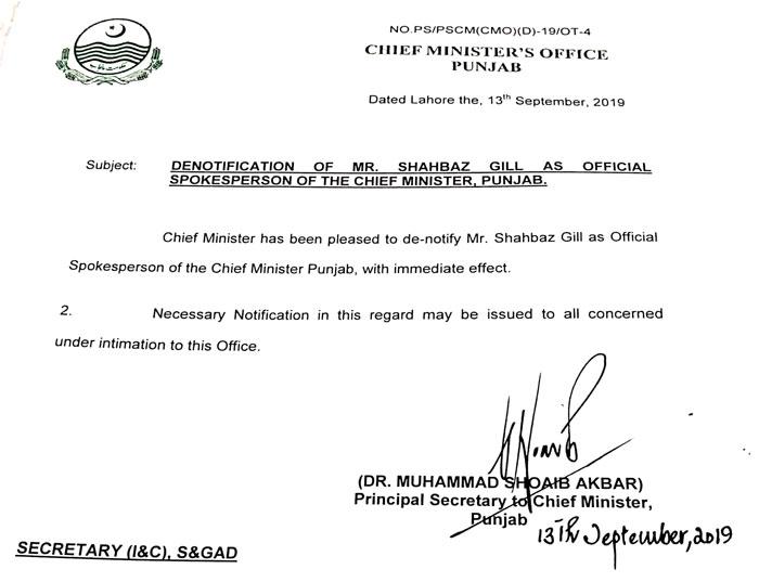 Shahbaz Gill resigns as Punjab CM spokesperson, Awn ...