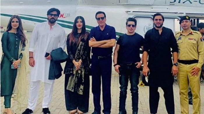 Pakistani celebs in Muzaffarabad for Kashmir solidarity rally