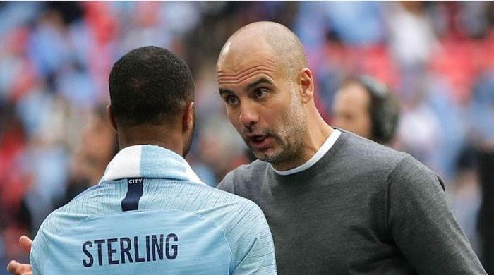 Sterling not on same level as Messi, Ronaldo, insists Guardiola
