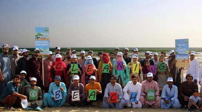 Lasbela university students organise clean-up drive at Kund Malir beach on ICCD