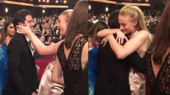 Sophie Turner breaks down, cries while hugging Kit Harington at Emmy Awards