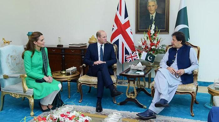 Royal visit: Prince William, Kate Middleton meet President Alvi, PM Imran
