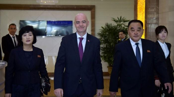 FIFA president ´disappointed´ by empty stands at Koreas qualifier