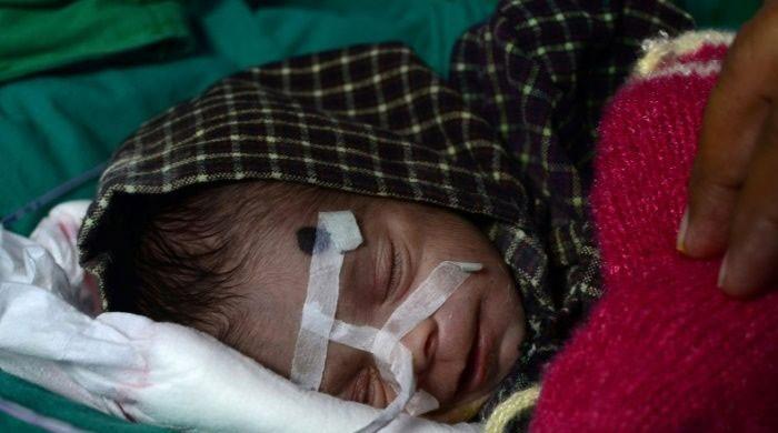Newborn girl found several days after being buried alive
