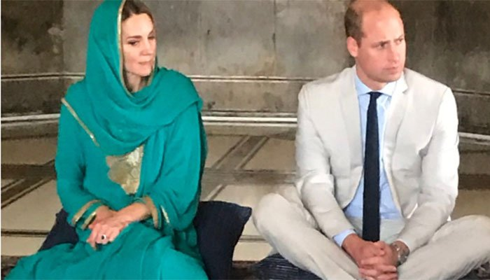 Prince William and Kate arrived at Lahore's iconic Mughal-era Badshahi Mosque, where they attended an event on religious tolerance.