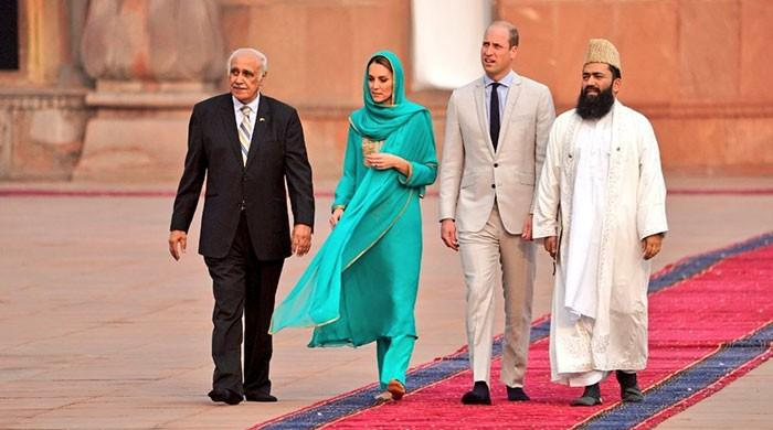 Royal tour: Prince William, Kate Middleton visit iconic Badshahi Mosque in Lahore