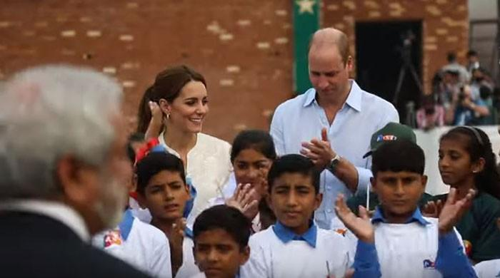 William and Kate take a swing at the National Cricket Academy
