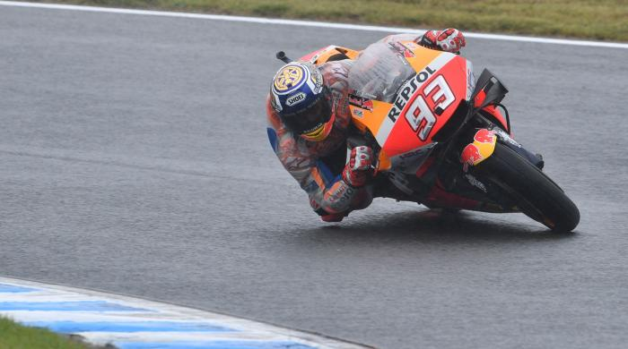 Champion Marquez secures his first pole at Japan MotoGP