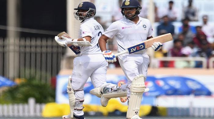 Sharma, Rahane put on unbeaten 185 after India wobbling at 39-3