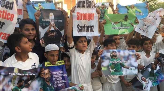 Protest held in Karachi over Sarfaraz Ahmed's sacking