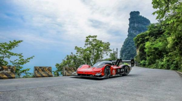 Volkswagen's new electric car breaks record at dangerous Chinese mountain course