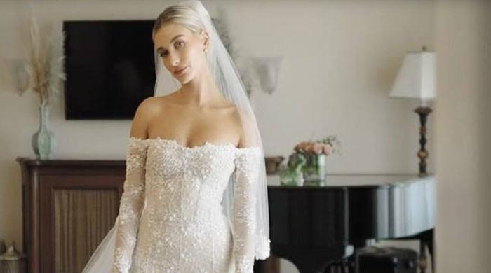 Hailey Bieber gives fans a glimpse of her stunning wedding trousseau