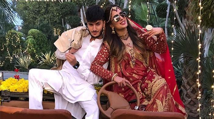 Just married: Mehwish Hayat and Shahveer Jafry dazzle as bride and groom