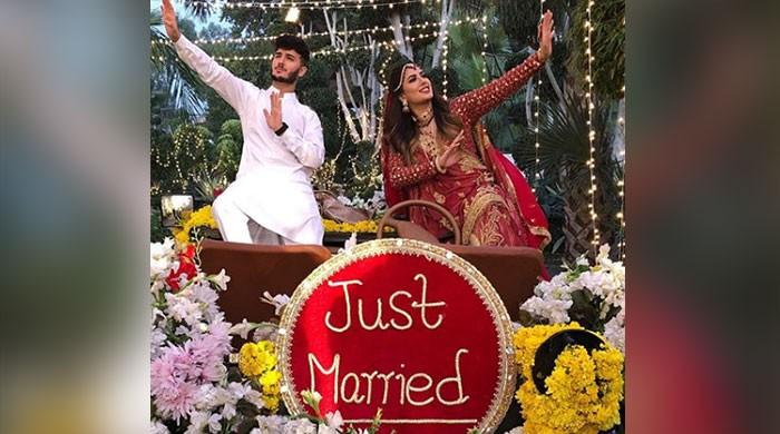Mehwish Hayat, Shahveer Jafry turn bride and groom for Abrar-ul-Haq