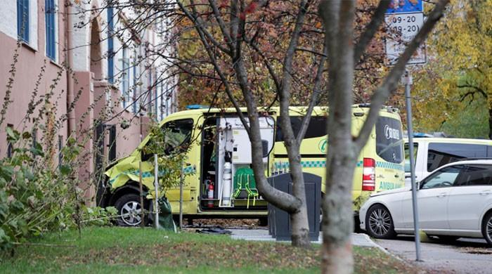 Armed man hits pedestrians with hijacked ambulance in Oslo: police