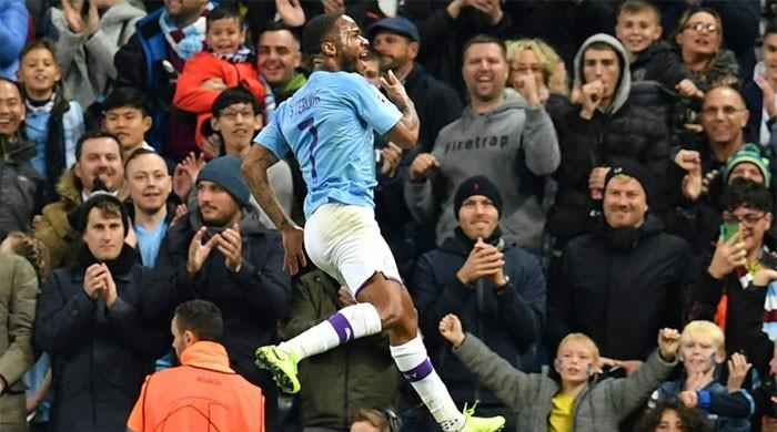 Sterling blasts 11-minute treble as Man City run riot